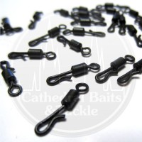 Matt Black Quick Change Flexi Rolling Swivels Size 12