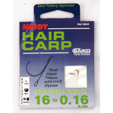 Middy Barbless Hair Carp Rig 10 to 0.20