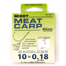 Middy Barbless Meat Hair Rig 14 to 0.16
