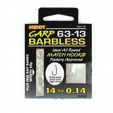 Middy Barbless 63-13 Hooks to Nylon 12 to 0.16