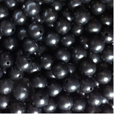 6mm Black Coloured Plastic Beads Qty 100 per pack