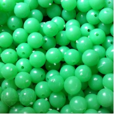 6mm Green Coloured Plastic Beads Qty 100 per pack