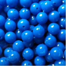 6mm  Blue  Coloured Plastic Beads Qty 100 per pack