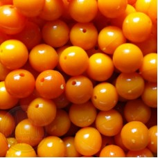 6mm Orange Coloured Plastic Beads Qty 100 per pack