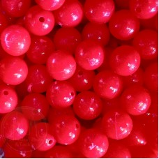 6mm Red Coloured Plastic Beads Qty 100 per pack