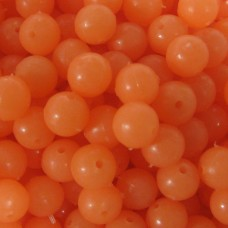 6mm Orange Lumi  Plastic Beads Qty 100 per pack