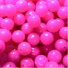 6mm Pink Coloured Plastic Beads Qty 100 per pack