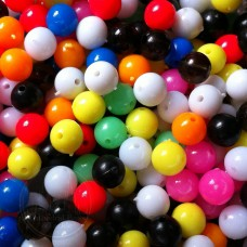 6mm Mixed Coloured Plastic Beads Qty 100 per pack